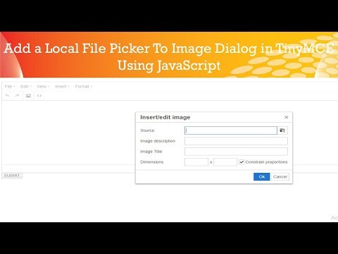 Add a Local File Picker to image Dialog in TinyMCE || php website development tutorial