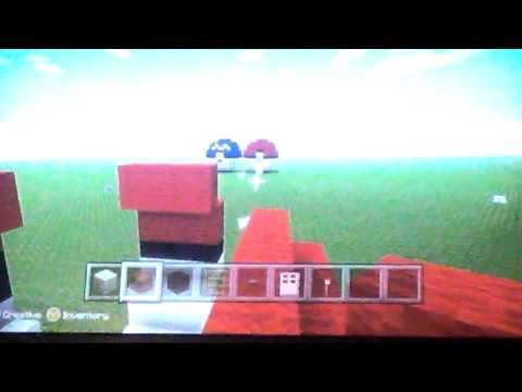 How to make a 3D pokeball in minecraft