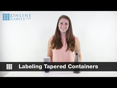 Labeling Tapered Containers