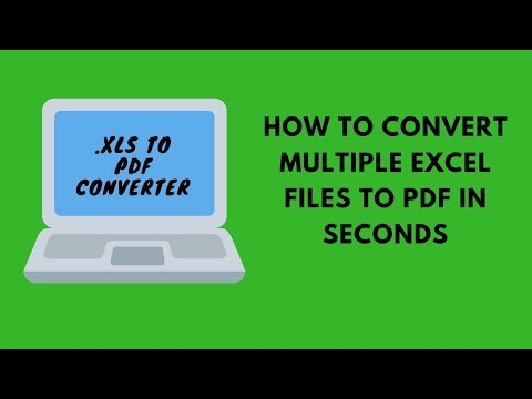 How to Convert Excel to PDF Files