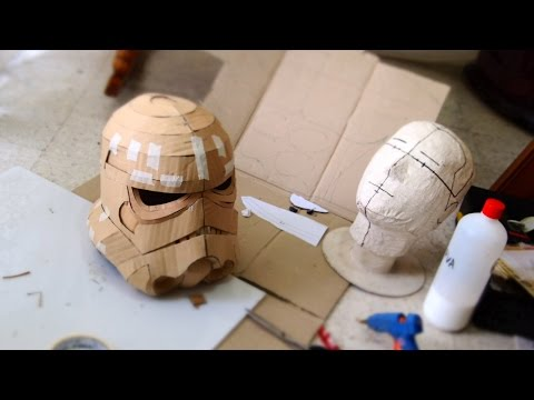 Make Stormtrooper Helmet Part 1 - Cardboard (free download) Cosplay How to