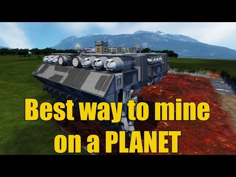 Space engineers - Best way to mine on planets