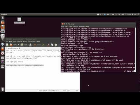 Install Google Chrome on Ubuntu 11.10