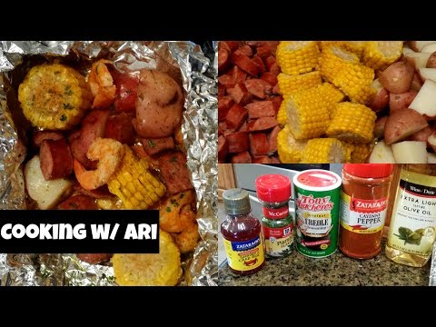 Shrimp Boil Foil Packets | Cooking w/ Ari
