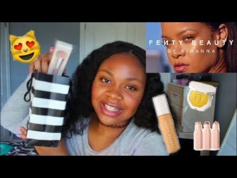 FENTY BEAUTY by Rihanna FULL FACE FIRST IMPRESSION + DEMO on Brown Skin!