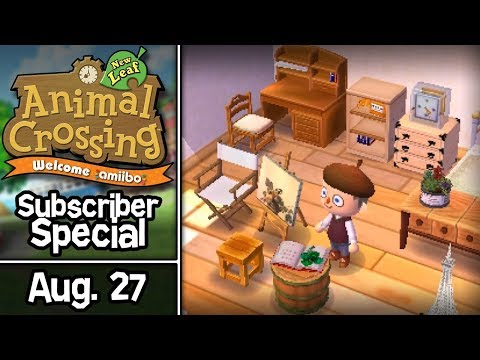 Animal Crossing: New Leaf, Subscriber Special #10 • August 27 • Visiting Twitch Subscriber Towns!