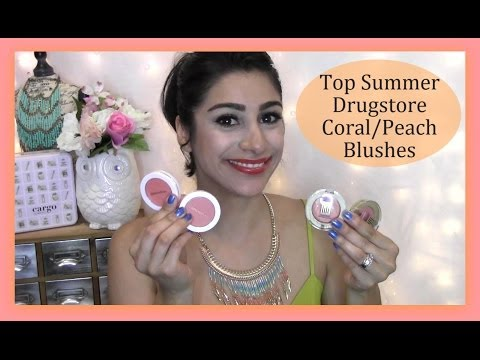 Top Summer Drugstore Coral/Peach Blushes│OneBeautyAddict