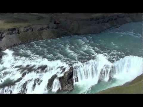 ICELAND FROM THE AIR :: The Golden Falls - Gullfoss