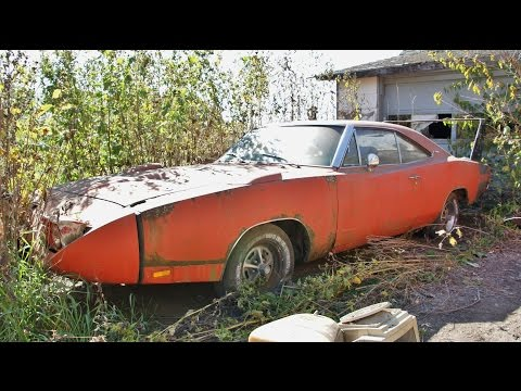 The Barn Find 1969 Dodge Charger Daytona rusting away - The Auto Archaeologist