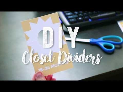 DIY Closet Dividers - Nursery Organization