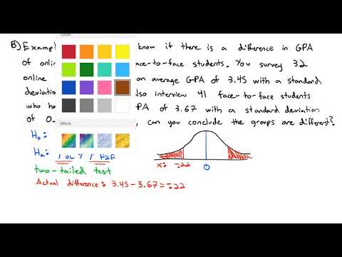 3.7 Hypothesis Test for Two Means