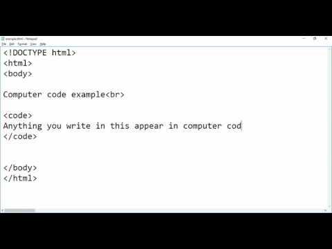 HTML - Computer Code tag