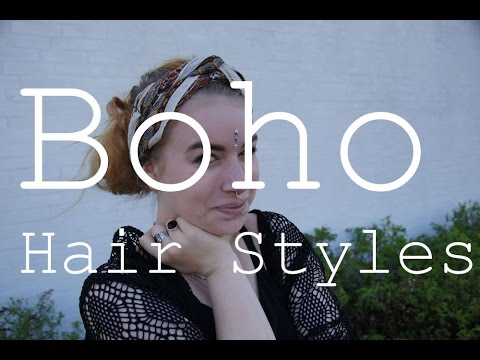 3 Boho Hair Styles // w Scarves // No Heat //