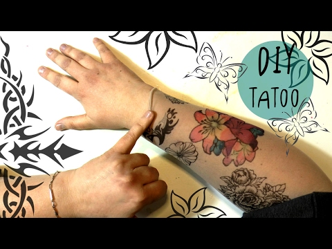 Amazing DIY TATTOO with SHARPIES and COPIC markers * TATTOO SLEEVES * fake tattoo that LOOKS REAL!