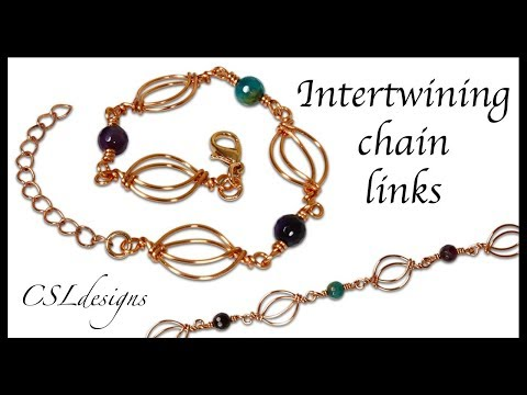Intertwining chain links ⎮ Make your own chain series