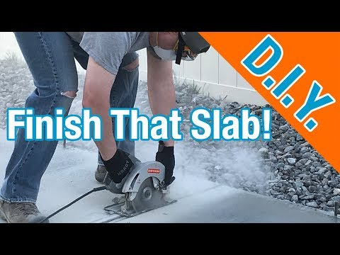 Finishing Up A Concrete Slab For A Shed: How To Build A Shed ep 6