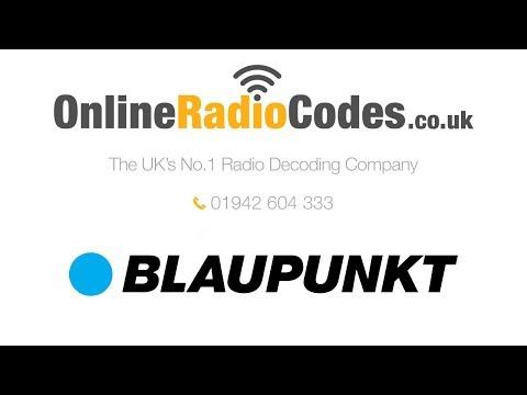 🚗   Blaupunkt Radio Code BP Stereo PIN Unlock Codes