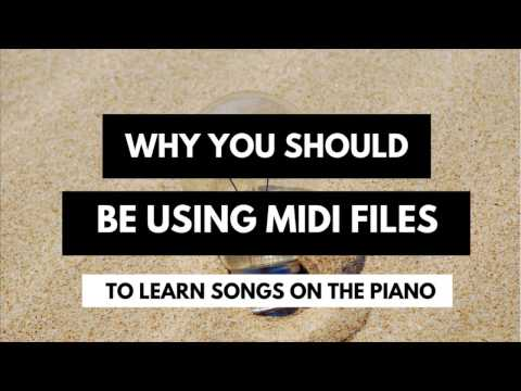 How to Use MIDI Files to play difficult songs on the Piano | An inside look at creating/using MIDI