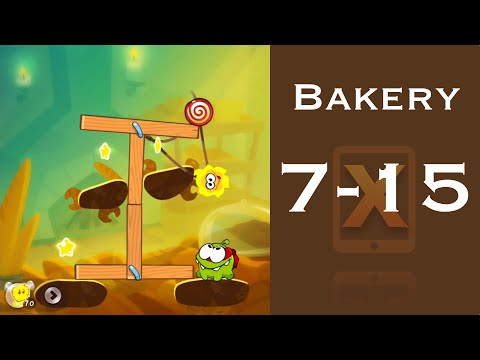 Cut the Rope 2 Walkthrough - Bakery 7-15 - 3 Stars + Medal