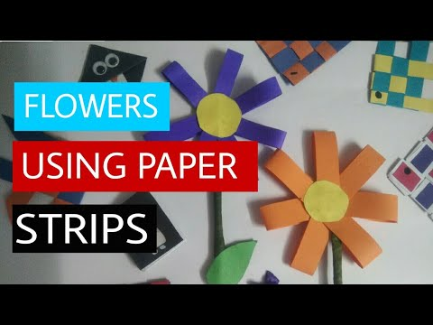 #6 DIY Flower with paper strips