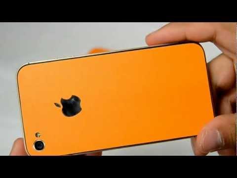 Orange iPhone skin til 4/4S fra TEZZO.dk