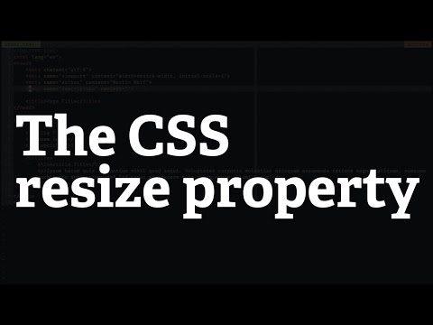 Screencast #33: The CSS resize property