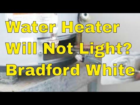 Bradford White gas water heater replace burner Assemble
