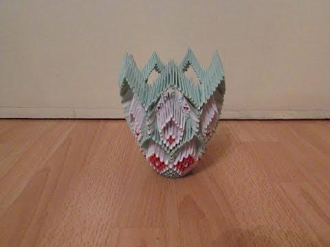 3D Origami Vase Tutorial #6