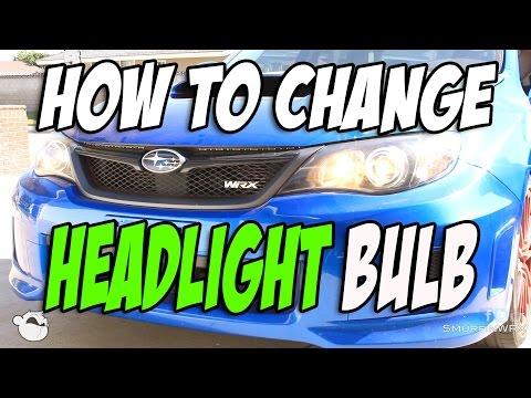 How To Change Your Headlight Bulb 2011 Subaru WRX