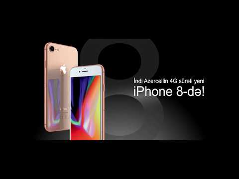 Azercellin 4G sürəti yeni iPhone 8-də!