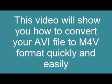 How to convert AVI to M4V