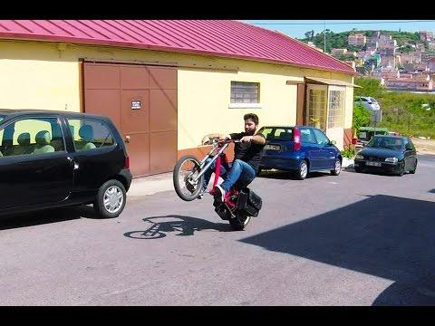 Cruising and popping wheelies on 3000w electric bike