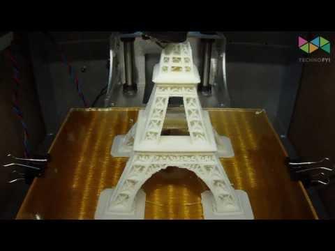 Eiffel Tower 3D print timelapse