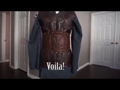 How to fake leather armor for cosplay | Updated video link in description