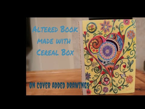 Cereal Box / Altered Book. This creative scrapbook has plenty of pages to add your memories.