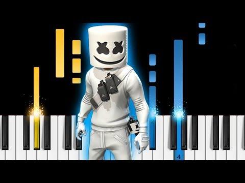 Marsh Walk - Marshmello Fortnite Dance - Piano Tutorial / Piano Cover