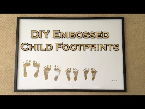DIY Embossed Child Footprints - Great For Mother's Day!