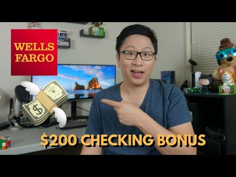 $200 Wells Fargo Checking Signup Bonus