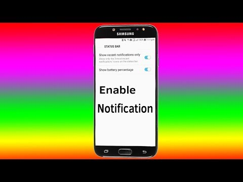 Android 7 Status Bar : How To Turn on Notifications - Helping Mind