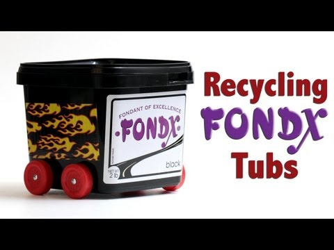 How to Recycle FondX Pails | Cake Business TIps
