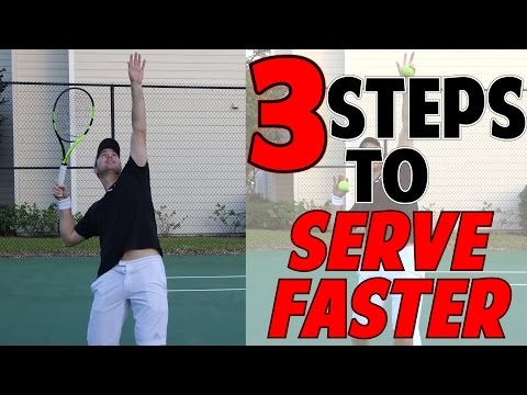 TENNIS SERVE SPEED LESSON | 3 STEPS TO A FASTER SERVE