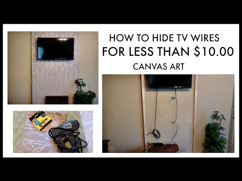 HIDE TV WIRES For Less Than $10