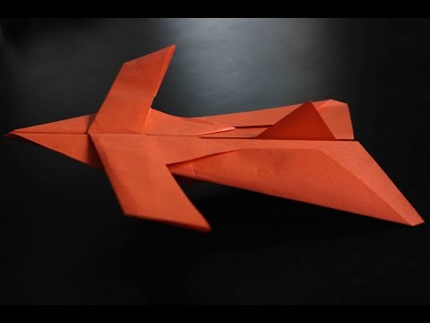 How to make a cool paper plane origami: instruction| Star fighter
