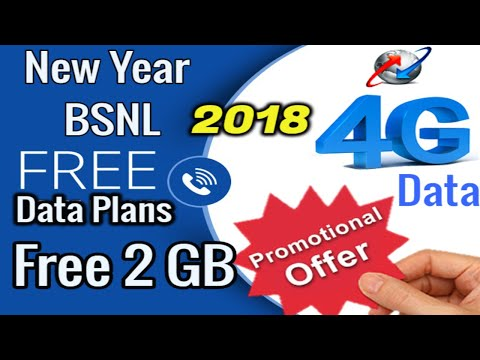 Bsnl Promotional offer 2 GB free data every gsm new users 2018 bsnl new year offer unlimited data