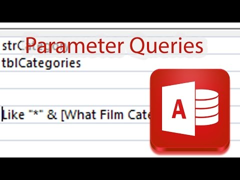 Parameter Queries in Access Database