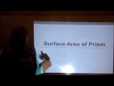 Calculating Surface Area of Prism