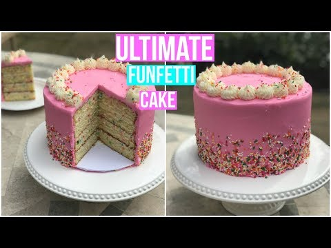 How To Make a FUNFETTI CAKE - Baking With Ryan Episode 60