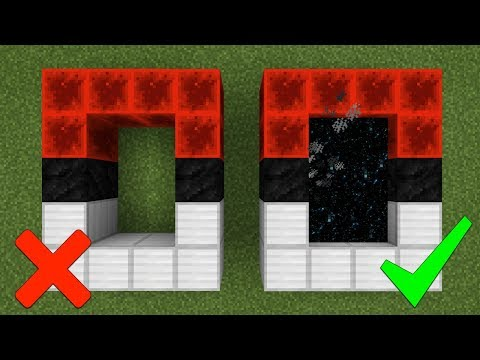How To Make a Portal to the Pokémon GO Dimension in Minecraft Pocket Edition