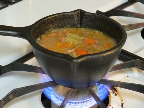 Lodge Cast Iron Melting Pot Soup Heating Demonstration