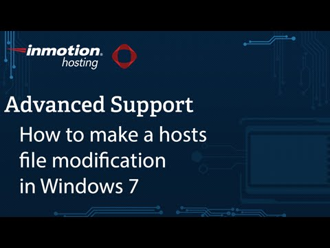 Modifying Your Hosts File